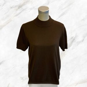 4/$30 🌺 Alia | Brown Short-Sleeved Turtleneck